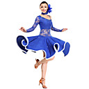 Latin Dance Dresses Women's Performance Lace / Viscose Black / Royal Blue / White