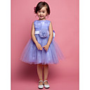 Flower Girl Dress - Trapezio/Palloncino/Stile Principessa Cocktail Senza Maniche Raso/Tulle