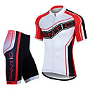 SANTIC Men's Cycling Jersey Short Sleeves + Shorts 100% Polyester MTB Cycling Suits(T-Shirt + Pants)