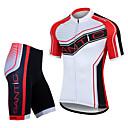 Santic menns sykling jersey korte ermer + shorts 100% polyester mtb sykkeldrakter (t-skjorte + bukser)