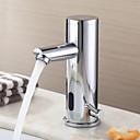 Waschbecken Wasserhahn Chrom-Finish zeitgenössische Design Messing Wasserhahn mit automatischer Sensor (warm und kalt)