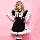 Sweet Girl Svart Apron Hvit Polyester Maid Uniform