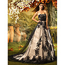 Lan Ting A-line/Princess Wedding Dress - Black (color may vary by monitor) Court Train Strapless Lace/Tulle