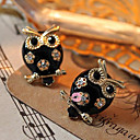 Women's  European and American models owl diamond earrings E134