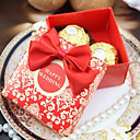 Asina Style Wedding Candy Box With Bow-Set of 50