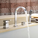 Bathtub Faucet - Contemporary - Sidespray - Brass (Chrome)