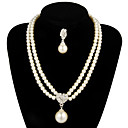 Gorgeous Alloy With Pearl Women's Jewelry Set Including Necklace,Earrings