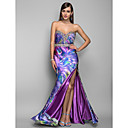 Formal Evening/Military Ball Dress - Print Plus Sizes Trumpet/Mermaid Strapless/Sweetheart Floor-length Stretch Satin
