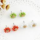 Korea Style Multilayer Pearl Flower Stud Earrings(Assorted Color)