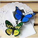 décoration de mariage 3d aile à double papillon artificiel (de couleur mélangée) -set 10