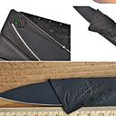 1st svart rostfritt stål mini fällbara kreditkort säkerhets stil nyhet kniv utomhus verktyg