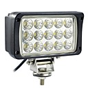 45W 15 LED Rectangle Lampe de travail