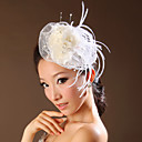 Women's Lace / Feather / Tulle Headpiece-Wedding / Special Occasion Flowers