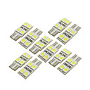 10 Pcs T10 W5W 194 168 4 LEDs Car Bulb 5050 SMD Light Interior White