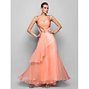 TS Couture® Formal Evening / Prom / Military Ball Dress - Pearl Pink Plus Sizes / Petite A-line / Princess Straps Floor-length Chiffon
