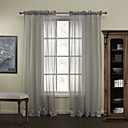 TWOPAGES® Modern Stripe Polyester Sheer Curtains Drapes Two Panels