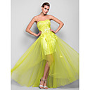 Formal Evening / Prom / Military Ball Dress - Daffodil Plus Sizes / Petite A-line / Princess Strapless Floor-length Satin / Tulle