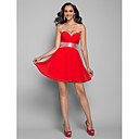 Prom / Homecoming / Cocktail Party Dress - Ruby Plus Sizes / Petite A-line / Princess Strapless / Sweetheart Short/Mini Chiffon