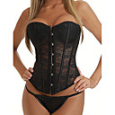 Fabulous Cotton Plastic Boned Lace-up Back Corset and G-string Set(More Colors) Sexy Lingerie Shaper