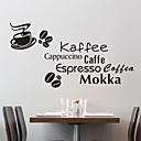 Palavras tipos de café adesivos de parede