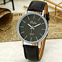 男女兼用のシンプルなダイヤルクォーツアナログPuの革バンドの腕時計