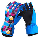 Outdoors Unsiex Dots Pattern Polyester+Fleece Ski Gloves