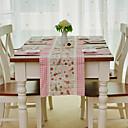 Chemin de table, coton / polyester, motif de lapin