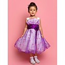 Flower Girl Dress - A-line/Mode de bal/Princesse Longueur genou Sans manches Tulle/Polyester