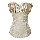 Attractive Cotton Blended Fabrics Plastic Boned Lace-up Back Corset(More Colors)