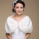 Nice Faux Fur Party/Casual Wraps/Evening Jackets Bolero Shrug