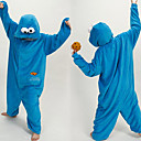 Unisex blu sveglio Sesame Street Polar Fleece Kigurumi Pajama