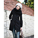 Women's Sweat Stand Collar Single Button Coat