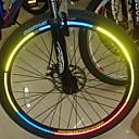 Roda de bicicleta Jantes luminosos adesivos reflexivos
