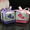 Heart Design Wedding Favors With Ribbon - Set of 50 (More Colors)