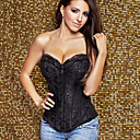 Good Satin Front Busk Closure And Lace-up Corset Shapewear Sexy Lingerie Shaper