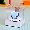 PVC transparent gâteau boîte de faveur avec ruban - Ensemble de 12