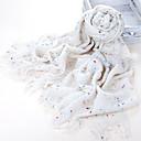 Starry Sky fibra acrilica beige caldo inverno Sciarpa con nappe
