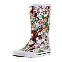 Gummi Kvinnors Flat Heel Rain Boot halva vaden stövlar