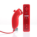 Mando MotionPlus y Nunchuk 2 en 1 para Wii/Wii U + Funda (Rojo)