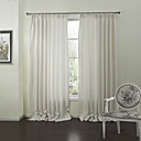 Modern Two Panels Geometric White Living Room Polyester Panel Curtains Drapes