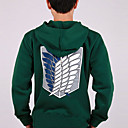 Ataque Titan verde Hoodie Cosplay (Normal da luva)