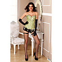 Satin Polyester Front Busk Closure And Lace-up Corset Shapewear Sexy Lingerie Shaper