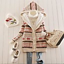 New 2014 Women's Snowflake Printed Fleece Thickening Hooded Sweater