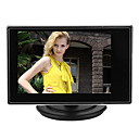 3.5 pulgadas TFT LCD Monitor Pequeño ajustable para la cámara de CCTV y DVR coche con entrada RCA AV de vídeo de sonido