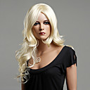 100% Japanese Kanekalon Synthetic Long Curly Wig(Ash Blonde)