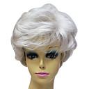 Capless hög kvalitet syntetisk Janpanese Kanekalon Kort Grå färg Kort hår peruk