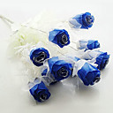 Wedding Décor Dark Blue Artificial Flowers - Set of 12 Flowers