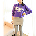 Women's Gray/Purple/Yellow Hoodies , Casual Long Sleeve