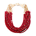 Women's European and American Luxury Alloy Multilayered Bohemia Style Necklace