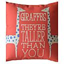 2 Giraffe coussin décoratif couverture